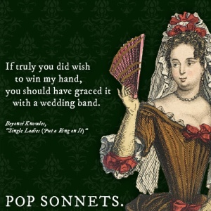 single ladies pop sonnet